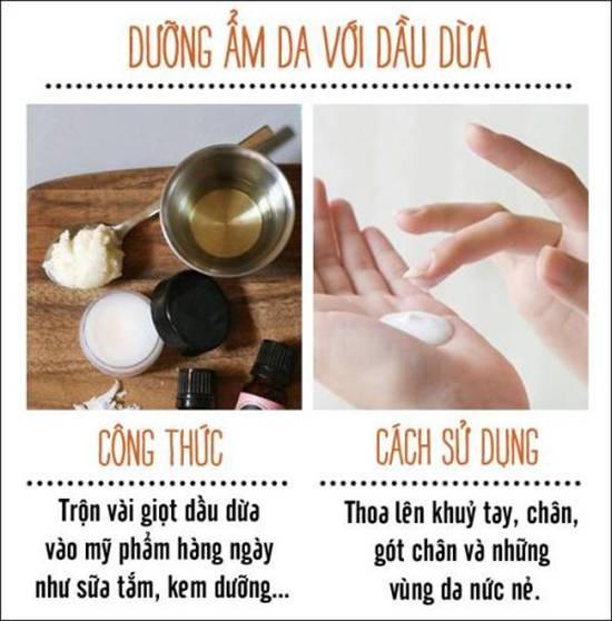 công dụng của dầu dừa dưỡng da